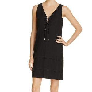 Paige Black Lace-up Shift Dress NWOT